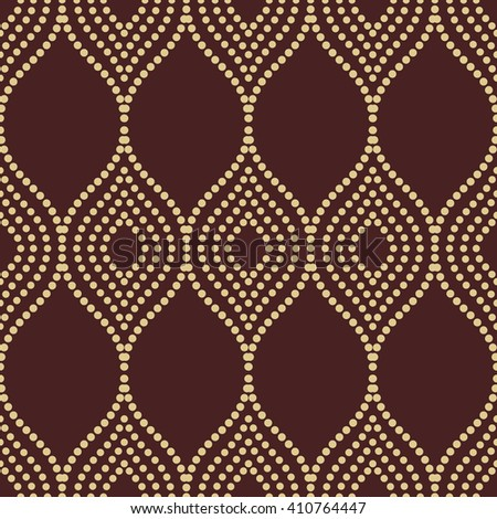 Seamless golden ornament. Modern stylish geometric pattern with repeating elements - stock photo