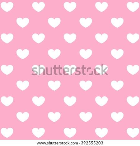 Seamless heart pattern love.  - stock photo