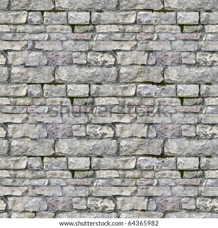 Seamless high resolution brick texture - stock photo