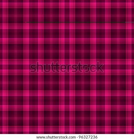 Seamless Hot Pink Plaid Background - stock photo
