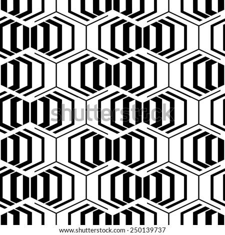 Seamless illustration background. Halftone line geometric pattern. Modern stylish texture - stock photo