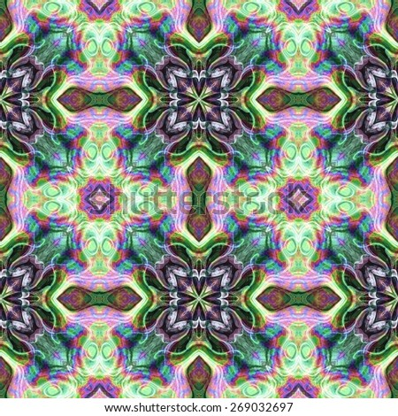 Seamless kaleidoscope texture or pattern colorful spectrum 1 -wallpaper pattern - stock photo