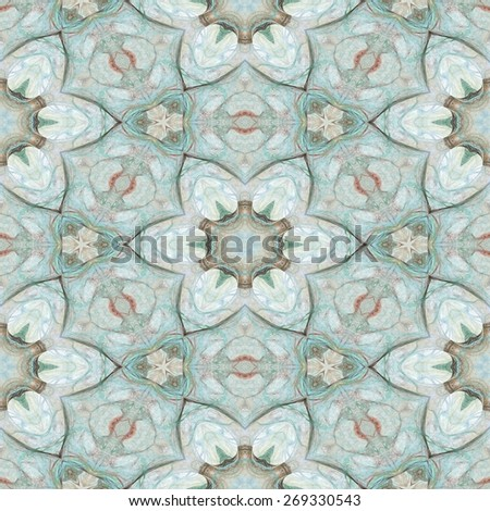 Seamless kaleidoscope texture or pattern in pastel colors 8 - wallpaper pattern - stock photo
