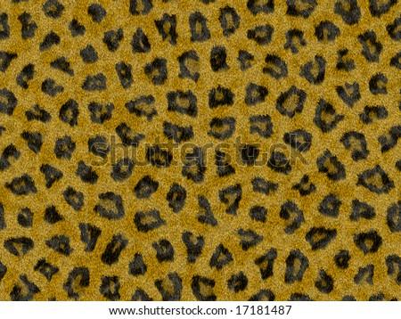 seamless leopard fur - stock photo