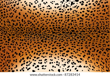 Seamless leopard pattern skin - stock photo