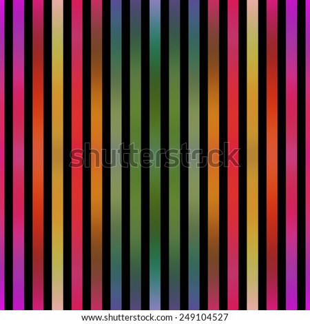 Seamless metallic paint effect colorful stripes on black. - stock photo