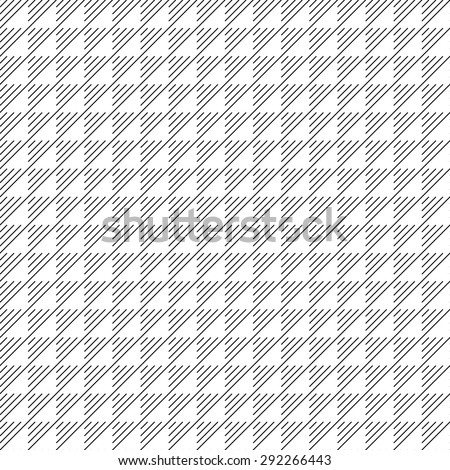 Seamless monochrome waffle texture with hatched triangles (raster version) - stock photo