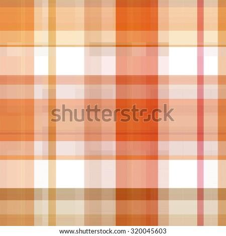 Seamless orange background of plaid pattern - stock photo