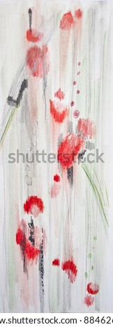Seamless painted background with abstract shapes - stock photo