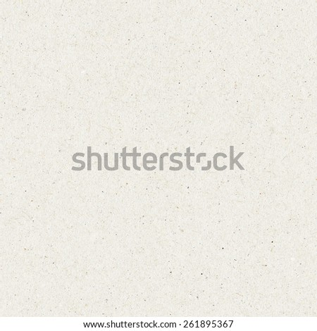 Seamless paper texture, white cardboard background - stock photo