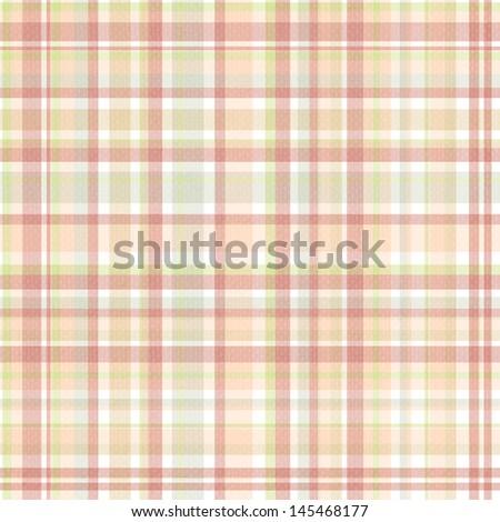 Seamless Pastel Plaid - stock photo