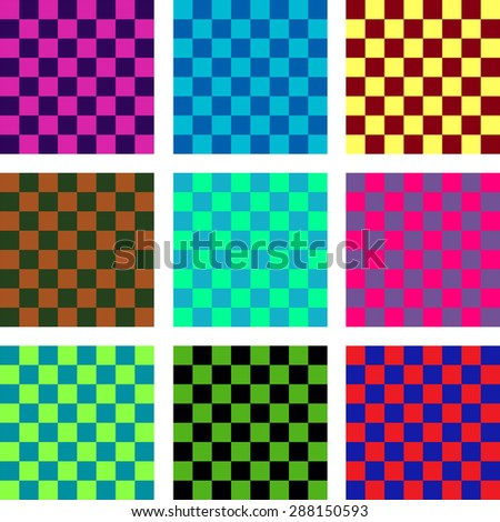 Seamless Pattern. Abstract Psychedelic Art Background.  Illustration.  - stock photo