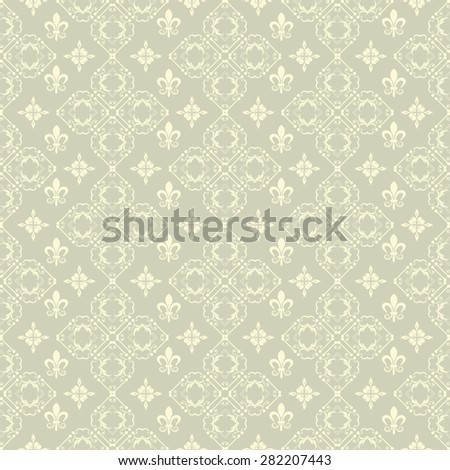 Seamless pattern damask wallpaper background in retro style for your design - stock photo