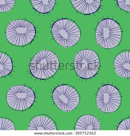 Seamless pattern design with 50s style mid-century modern circle drawings, repeating background for all web and print purposes - raster version - stock photo