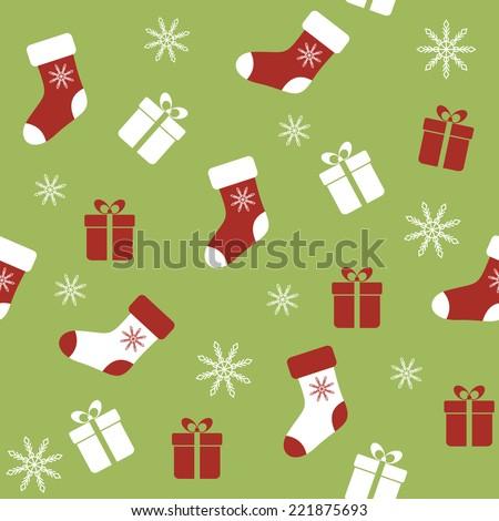 Seamless pattern for Christmas. Raster version - stock photo