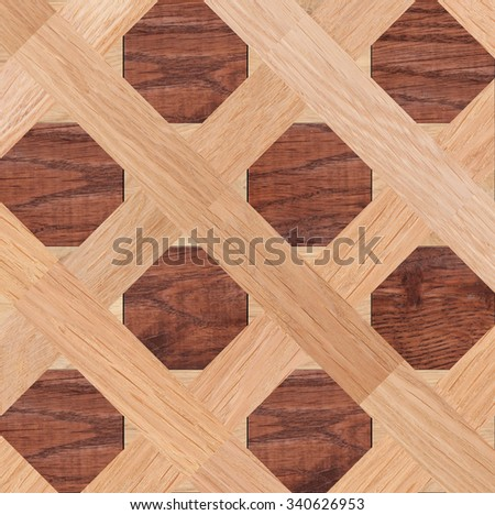 Seamless pattern, fragment of parquet floor  - stock photo