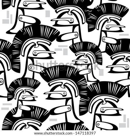 seamless pattern helm knight  - stock photo