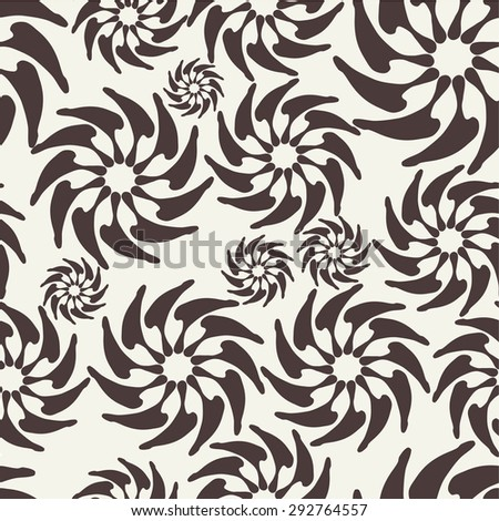 Seamless pattern. Modern repeating texture. Fancy print with stylized flowers - stock photo