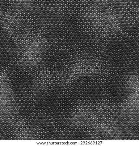 Seamless  pattern  of black reptile leather - stock photo