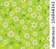 seamless pattern of daisies - stock photo