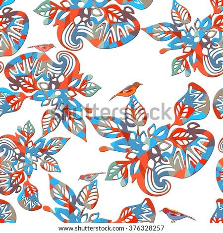 seamless pattern of flower pattern - stock photo
