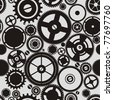 SEAMLESS pattern of gears - stock photo