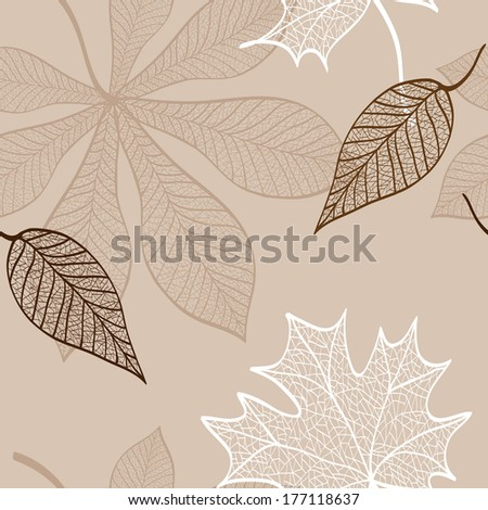 seamless pattern of lace foliage raster version - stock photo