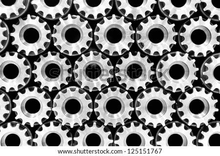 seamless pattern of mechanical cog wheels used in automotive industry gear - stock photo