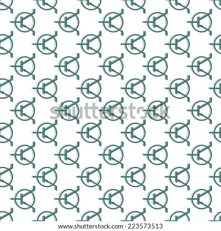 Seamless pattern of the transistor icons  - stock photo