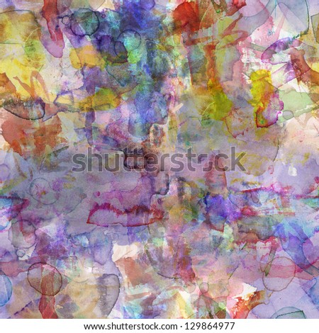 Seamless pattern of the watercolor spots. It is possible to repeat (duplicate) it continuously without any seams. - stock photo