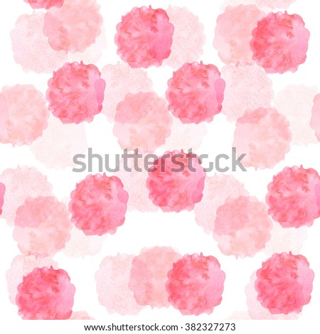 Seamless pattern of watercolor stains. Hand drawn texture. Colorful background for design. - stock photo