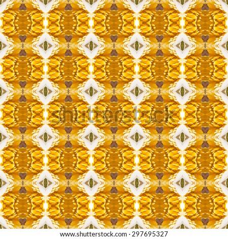 Seamless pattern on yellow, orange tone - stock photo