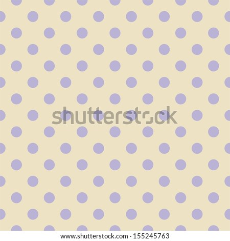 Seamless pattern or texture for background with light violet polka dots on beige background. For web design, documents template, blog or desktop wallpaper - stock photo