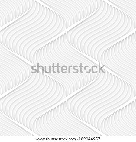 Seamless pattern. Raster illustration. Modern stylish texture. Repeating geometric relief. Volume wavy background - stock photo
