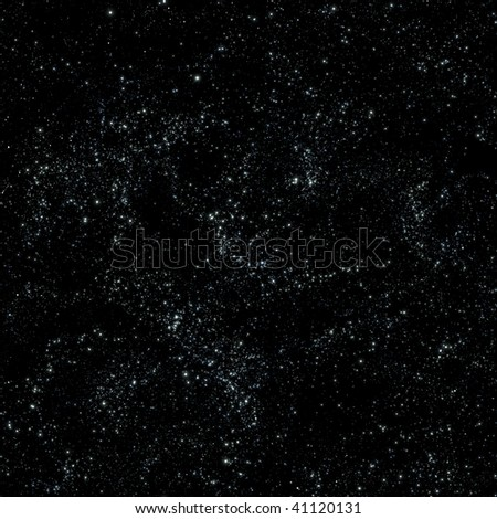 Seamless pattern tile of outer space or galaxy - stock photo