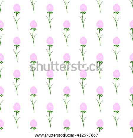 Seamless pattern with clover flower. - stock photo