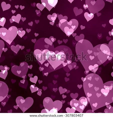 Seamless  pattern  with hearts - stock photo