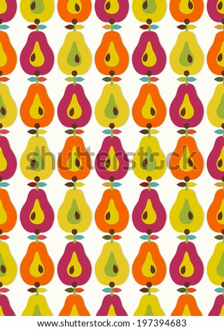 Seamless pattern with kitchenware icons - stock photo