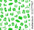 seamless pattern with shopping icons (vector available in my gallery) - stock photo