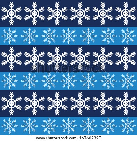 seamless pattern with snowflakes. Raster version - stock photo