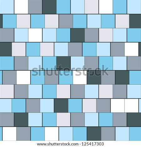 Seamless pattern with squares (raster version). Abstract background. Cool cell structure - stock photo