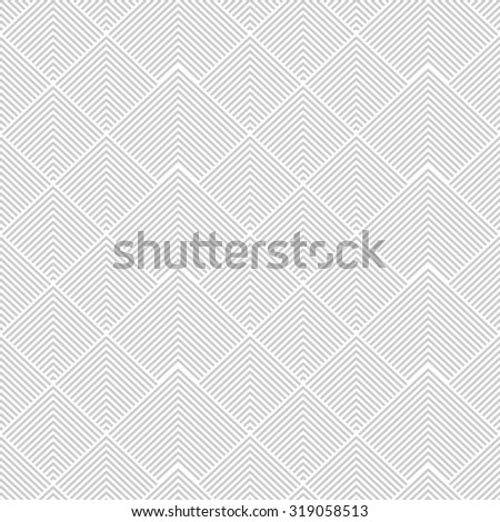 Seamless pattern with stripes. White and gray texture. - stock photo