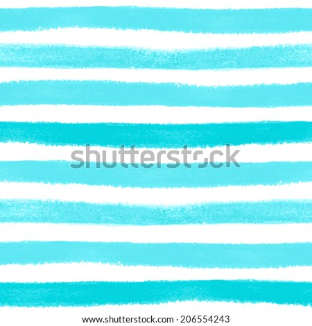 Seamless pattern with watercolor painted stripes - stock photo