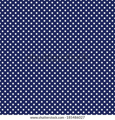 Seamless pattern with white polka dots on a sailor navy blue background. For desktop wallpaper, sailor blog website or spot fabric. - stock photo