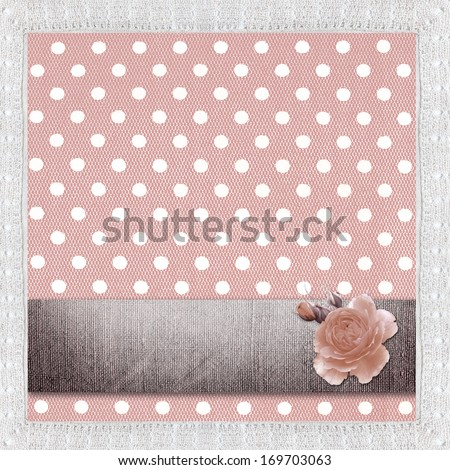 Seamless pattern with white polka dots on a violet background.  - stock photo