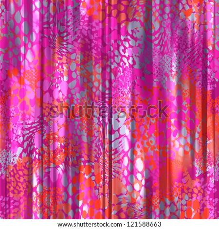 seamless pink animal curtain background - stock photo