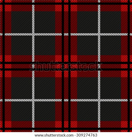 Seamless plaid checkered pattern. Red, black, grey. Backgrounds & textures shop. - stock photo