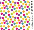 Seamless polka dots background. Use for greeting cards, birthday, baby shower, baptism, christening, textiles, scrap-booking, gift wrapping paper. See my folio for other colors. - stock photo
