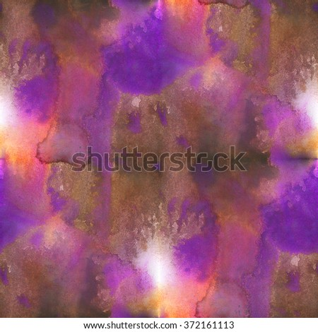 seamless  purple brown watercolor background abstract pattern  texture, water paper art design  wallpaper - stock photo