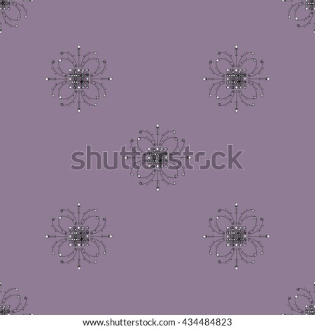 Seamless purple lillac floral wallpaper - stock photo
